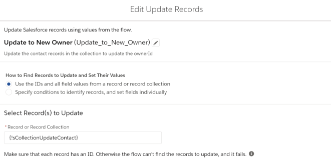 UpdateUserFlow-UpdateRecords
