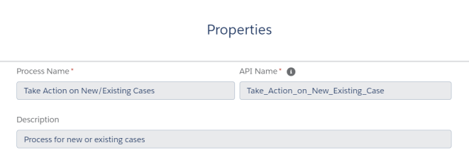 TakeActionOnNewExistingCasesProcess-Properties