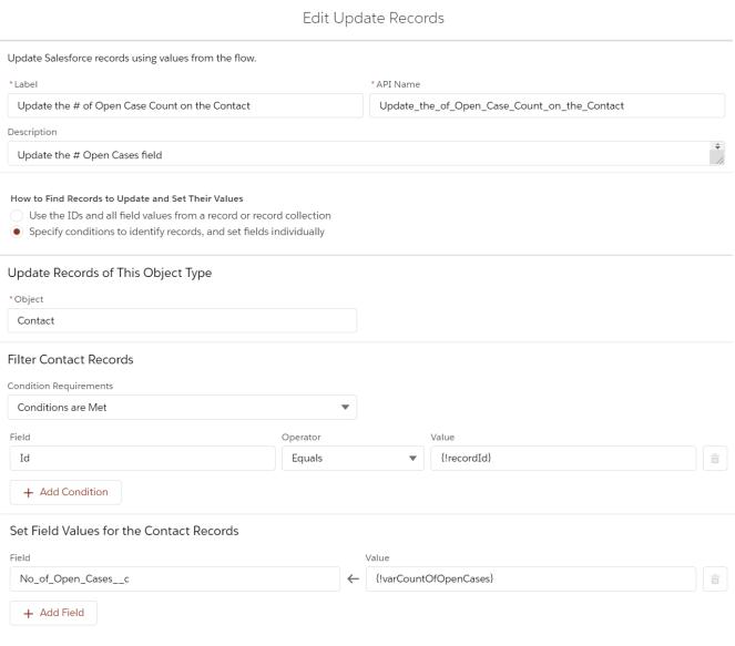 UpdateOpenCaseCountOnContactFlow-UpdateRecords.PNG
