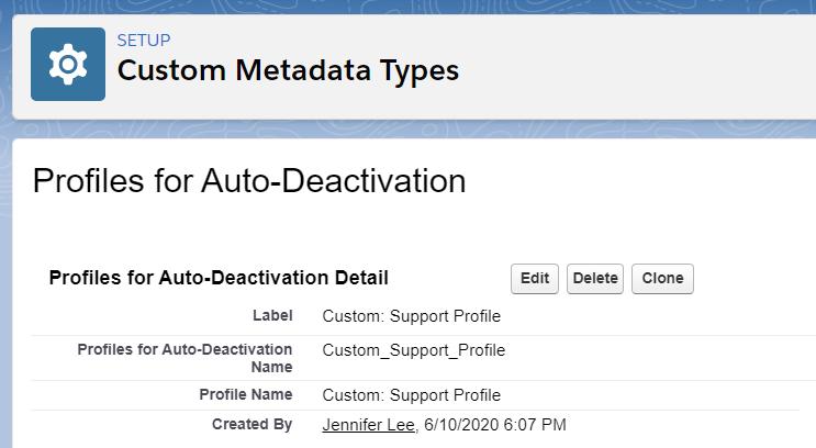 ProfilesforAutoDeactivationCMDTRecord