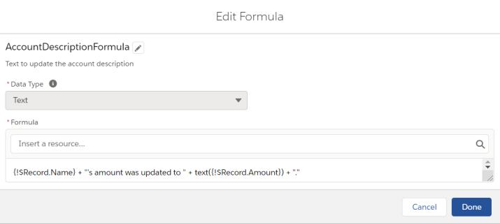 AccountDescriptionFormula