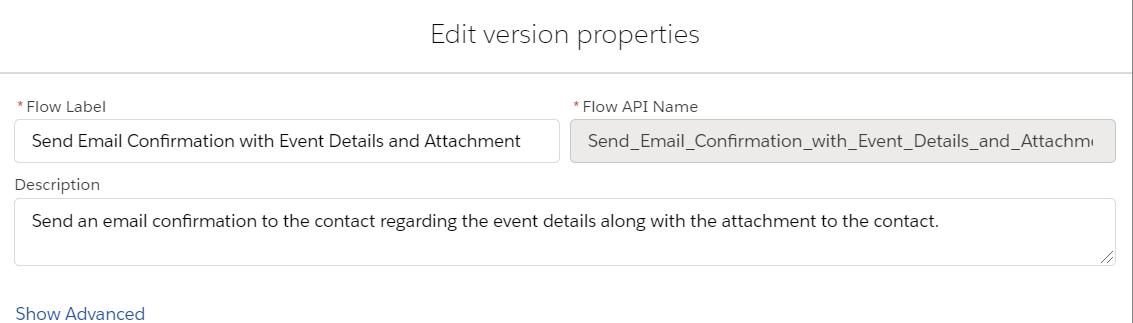 SendEmailConfirmationWIthEventDetailsandAttachment-Properties