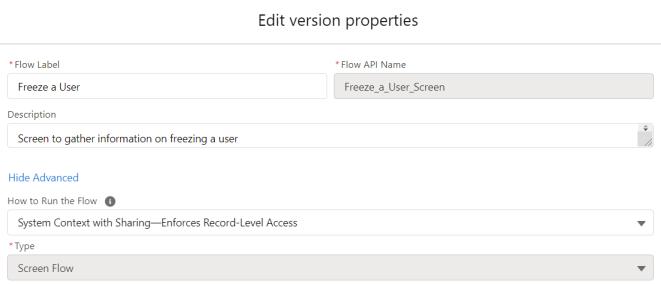 FreezeAnUser-ScreenFlow-Properties